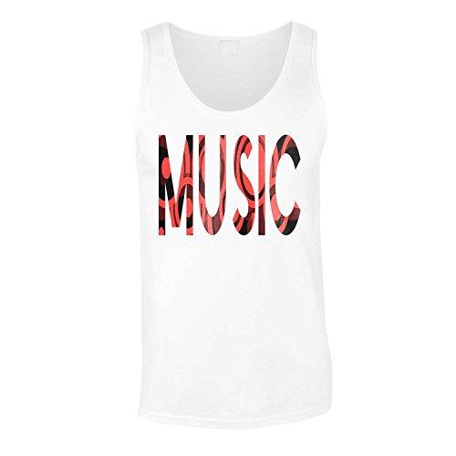 Gli amanti della musica i colori nero e cerchi rossi novità canotta da uomo p71mt White