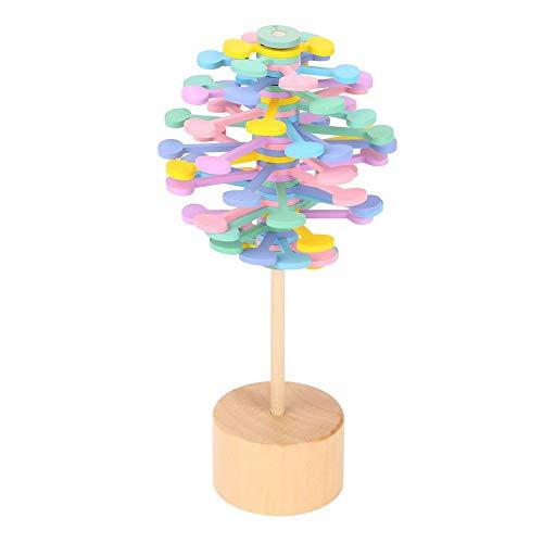 Fdit Rotation von Lollipopt Holzspielzeug Lustige Ruhe Stress Relief für Erwachsene Macaron -