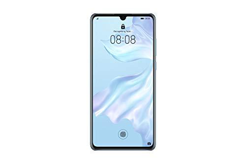 """Huawei P30 (Respirador Cristal) mais tampa transparente, 6GB RAM, 128 GB de memória, 6.1 Ecrã """"FHD +, Câmara traseira tripla de 40 + 16 + 8 Mpx, câmara frontal 32 Mpx"""