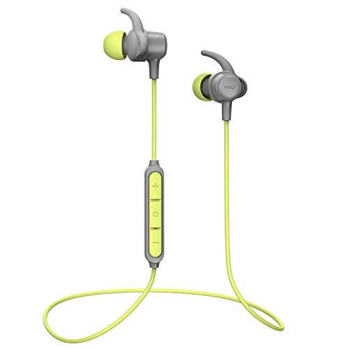 Bluetooth Kopfhörer WRZ S8 Kabellose Ohrhörer mit magnetischem Mikrofon für Sport 10 Stunden Spielzeit Wasserdichte Kopfhörer für Android iOS Telefone - Grün (Hearphone Mp3)