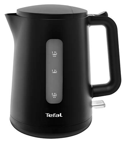 Tefal KO2008 Element Black Wasserkocher (2400 Watt, 1,7 l Wassertank) schwarz