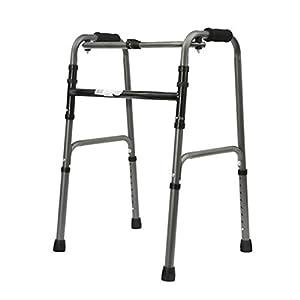 WZHWALKER Gehhilfe Für Ältere Menschen, Struktur Aus Aluminiumlegierung, Faltbare Gehhilfe, Mit 2 Lenkrollen, Gehhilfe, Multistil Optional