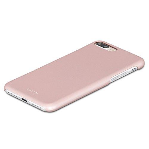 """iPhone 8 Hülle / iPhone 7 Hülle Schwarz - CASEZA """"Rio"""" Case Back Cover mit Mattem Finish - Premium Hardcase Bumper mit Gummierter Oberfläche für Angenehme Haptik - Hochwertige Schutzhülle Ultra Slim Rose Gold iPhone 8 Plus & 7 Plus"""