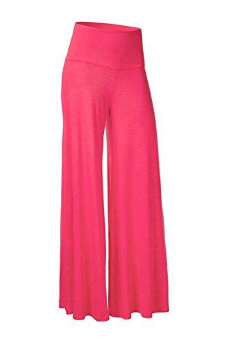 Les femmes plus large jambe sport yoga pant Pantalons Rose