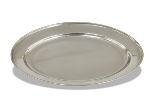 Crestware OVT22 Stainless Steel Oval Serving Tray, 22-Inch by Crestware Oval Steel Serving Tray