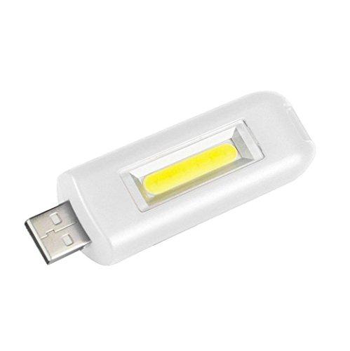 Gusspower LED Schlüsselanhänger Taschenlampe, Mini COB USB Wiederaufladbare Tragbare Arbeitsscheinwerfer Inspektionslampe, IPX4 Wasserdicht, für Camping Haushalt Workshop (Weiß) -