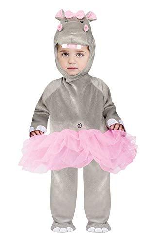 Kleinkind Kostüm Nilpferd - Horror-Shop Nilpferdkostüm für Kleinkinder - Lustiges Tierkostüm für kleine Faschings Fans L