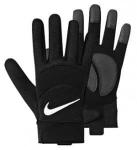 nike gants de joueur de champ de football noir medium sports et loisirs. Black Bedroom Furniture Sets. Home Design Ideas