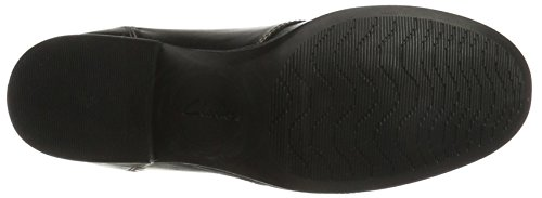 Clarks Maypearl Flora, Stivali Combat Donna Nero (Black Leather)