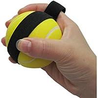 Grip Strengthener Tenis Shape Grip Ball Finger Strengtheners Alto-elástico Gripper Strengthening (Amarillo)