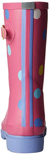 Joules  Printed Welly, Bottes Fille Rose - Pink (Neon Candy)