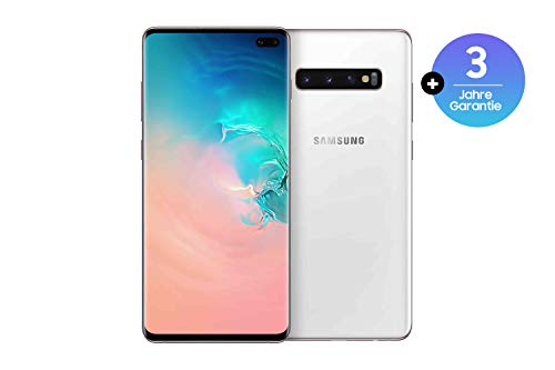 Samsung Galaxy S10+ Smartphone (16.3cm (6.4 Zoll) 512 GB interner Speicher, 8 GB RAM, Dual SIM, Android, Ceramic White) inkl. 36 Monate Herstellergarantie [Exklusiv bei Amazon] Deutsche Version Ceramic White