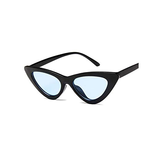 Sportbrillen, Angeln Golfbrille,Cat Eye Women Sunglasses Fashion Luxury Brand Designer Lady Female Mirror Points Sun Glasses For Women Oculos De Sol Black Black Blue