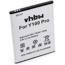 vhbw Li-Ion batería 2200mAh (3.8V) para teléfono móvil Smartphone Doogee Valencia 2, Y 100, Y100, Y100 Pro por H0722Y100Pro550.