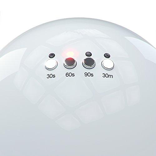NailStar® Professioneller LED-Nageltrockner mit UV Nagellampe für Shellac und Gelnagellack Lichthärtegerät mit Timer, Tragbares Härtungsgerät für Maniküre, Aushärtungslampe für Fingernägel – weiß - 4