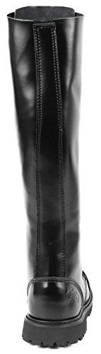 30 Trous de style gothique bottes ranger springerstiefel uK - Noir