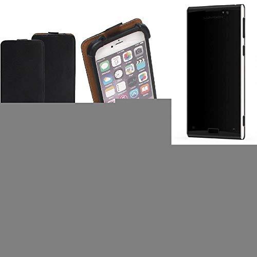 K-S-Trade Flipstyle Case für Lumigon T3 Schutzhülle Handy Schutz Hülle Tasche Handytasche Handyhülle + integrierter Bumper Kameraschutz, schwarz (1x)