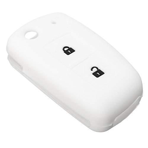 Viviance 2 Buttons Car Remote Key Case Silikon Rubber Cover Fob Shell Für Nissan Qashqai - Weiß