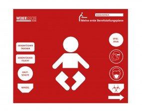 Preisvergleich Produktbild Baby-Bereitstellungsplane Feuerwehr (Wickelunterlage als Geschenk zur Geburt) von WEBER RESCUE