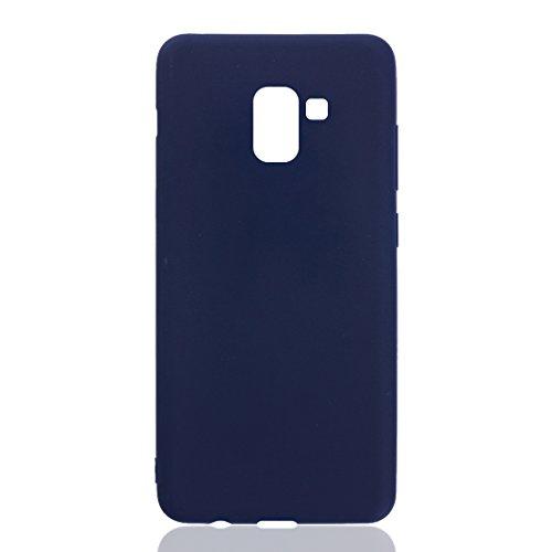 Asnlove Ultra Dünn Tasche TPU Handy Fälle Schutzhülle Handykappen Anti-Scratch Bumper Case mit Pure Motiv Silikon Schutzhülle Für Samsung Galaxy A8 2018
