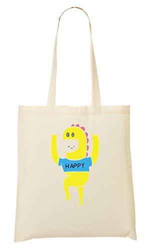Happy Yellow Tragetasche Einkaufstasche