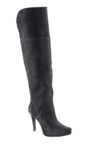 High Heel stivali in velluto Eder in nero Nero (nero)