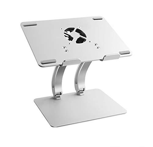 Laptopständer für den Schreibtisch in Winkel und Höhe verstellbarer Aluminiumständer ergonomischer Ständer Kühlung mit Lüfter für Laptops Notebooks und Apple Macbooks von 11-17 Zoll (28-43 cm),golden