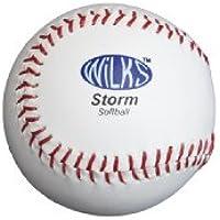 Wilks Storm - Pelota de sófbol (29,21 cm), blanco