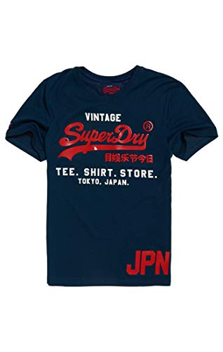 Superdry Shirt Shop Duo tee, Camiseta para Hombre, BLU (Teal Grit Uy9), XL