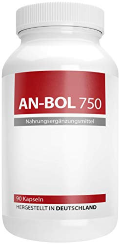 AN-BOL 750 | Arginin + Citrullin + Maca | Hardcore Pre Workout Booster - 90 Kapseln - Hergestellt in Deutschland [powered by Green Nutrition]