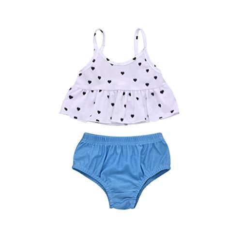HCFKJ Bademode Baby Mädchen Kleinkind Kinder Print Zweiteilige Badeanzug Kleidung Set (Kleinkind Bademode Für Mädchen)