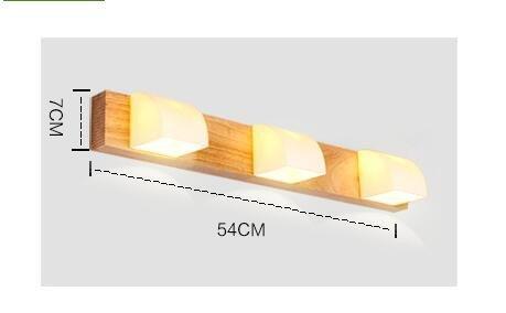 SJUN-Nordic Wood Bathroom Mirror Front Lamp Simple Bathroom Bed Bedroom Wooden Wall Lamp Creative Lighting