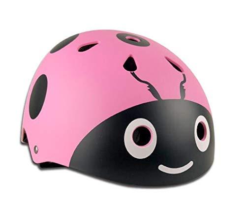 HU Roller Skating Helm Nette Kinder Männer und Frauen können Sicherheits-Hüte einstellen, Skates Erwachsene Skateboard EIS Baby Selbstausgleich Auto Helm Multi-Color Optional (Color : Pink/S/M) -