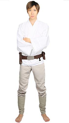Halloween Cosplay Kostüm Jedi Outfits Suit mit Gürtel Herren Verrücktes Kleid Kleidung für Erwachsene Party (Custom Kostüm Jedi)
