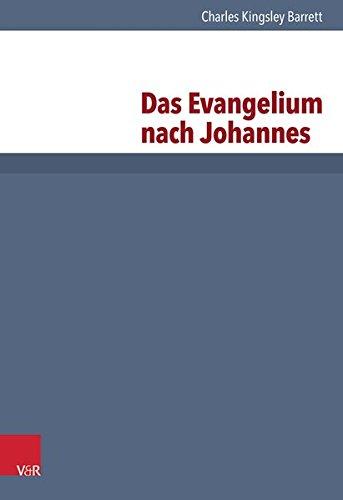 Kritisch-exegetischer Kommentar über das Neue Testament, Das Evangelium nach Johannes