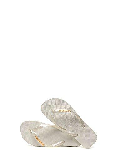 Havaianas Infradito bianche Logo Metallic Bianco