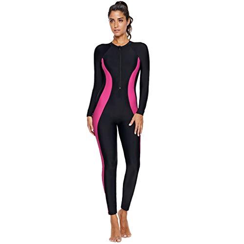 Combinaison de plongée sexy pour femmes Natation Plongée sous-marine Plongée en apnée Survêtement de plongée Combinaison (XL, Hot Pink)