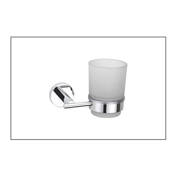STELERA Glass Tumbler Holder - Toothbrush Stand for Bathroom and Wash Basin (High Grade 304 Stainless Steel) - Royal Series