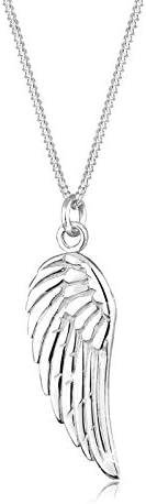 Elli Women's 925 Sterling Silver Wing Feather Pendant Necklace - 45cm le
