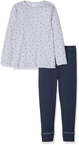 Sanetta Baby-Jungen Zweiteiliger Schlafanzug Pyjama Long Grau (Hellgrau Melange 1646.0) 80