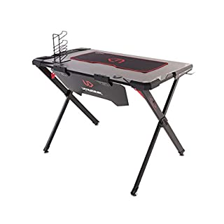 Ultradesk Action - Gaming Tisch, Gamer Desk, Computertisch mit LED