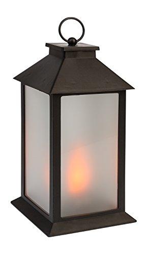 e mit 54 LED in flackernder Flammenoptik, mit 6 Stunden Timer Funktion, Batterie betrieben, für Hochzeit, Party, Deko, Weihnachten, als Stimmungslicht, ca. 14 x 14 x 28 cm ()