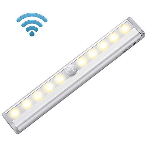 Sensor de movimiento inalámbrico, luz nocturna LED con batería y tira magnética,...