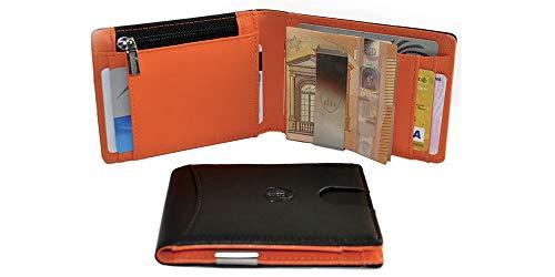 eefe0692a7 Portafoglio Uomo BRuS Portafoglio RFID, Portafoglio Uomo Piccolo Sottile Con  Fermasoldi, Porta Carte Di
