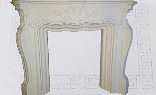 Deko-König Medusa Kamineumrandung Kamin Umrandung im Barockstil mit Deko-Säulen Kamin Umbau Crem 3-D (1833 k 70)