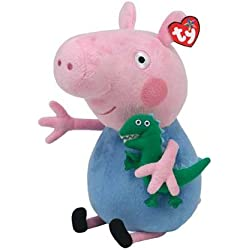 Peluche 25cm George con dinosauo Peppa Pig Originale