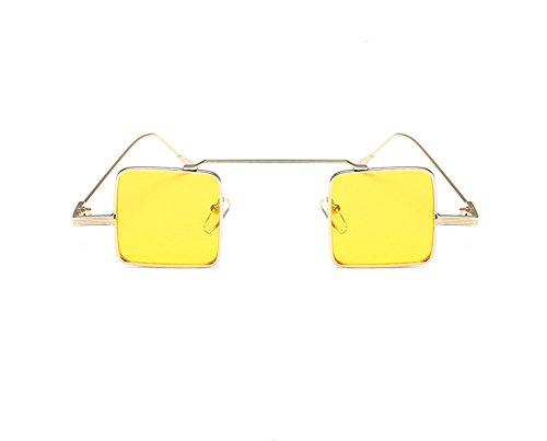 Westeng Unisex Sonnenbrille Rechteckige Sonnenbrille Reflektierende Linse Metallrahmen Einfache Mode-Stil (3 Farben sind Optional)