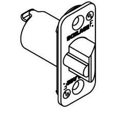 Schlage 11-088 2 3/8 Replacement Deadlatch with 1/4 Radius Corner 1 x 2 1/4, Brushed Chrome by Schlage Lock Company