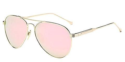 KINDOYO Polarized UV400 Metal Frame Aviator Sunglasses Mens Womens Gold-Rose Gold NO.3