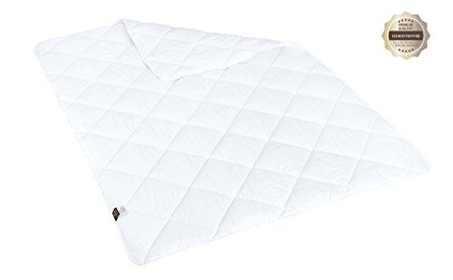 sei Design Mikrofaser Sommer-Bettdecke 135x200   Kochfest, speziell für Allergiker und häufiges Waschen geeignet   Schadstoffgeprüft